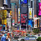 Busy Times Square by Paul Thompson Photography