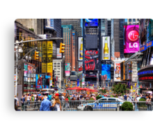 Busy Times Square Canvas Print