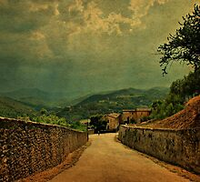 A Break in The Clouds-Spoleto, Italy by Deborah Downes