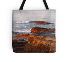 Early Morning Waves and Seaweed Tote Bag