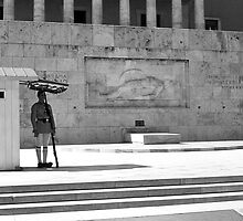 BW Greece Athens Tomb of the Unknown Soldier 1970s by blackwhitephoto