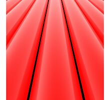 Vanishing Point, Red for iPhone by Lyle Hatch