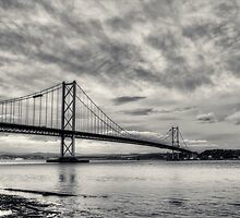 Forth Road Bridge Black & White by chilipenguin