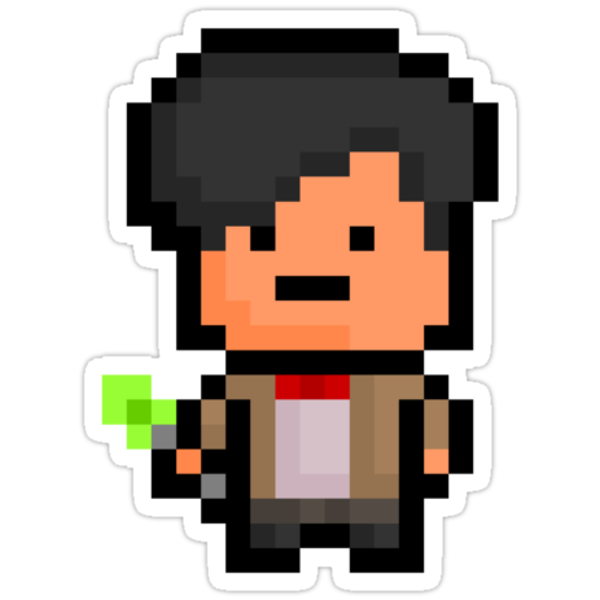 Pixel Eleventh Doctor - Doctor Who Sticker by PixelBlock