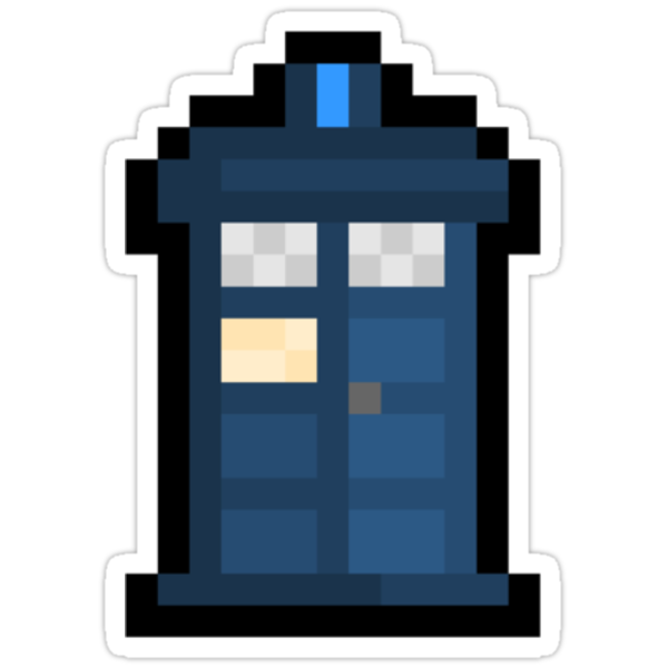 Pixel TARDIS Sticker by PixelBlock