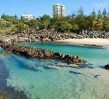 Snapper Rocks Swimming Lanes by Tim Jordan
