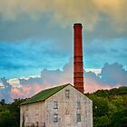 Barn and Smoke Stack by KellyHeaton