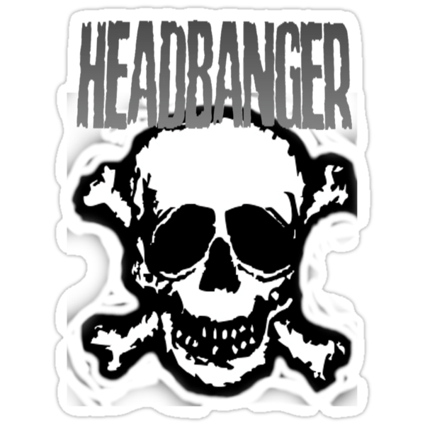 Headbanger Skull by Luke Kegley