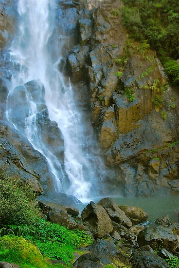 Base of Ellenborough Falls by Penny Smith
