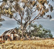 Old Shack - Photo Painting by Candice84
