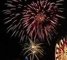 Fireworks, Gold Coast, Australia by Julia Harwood