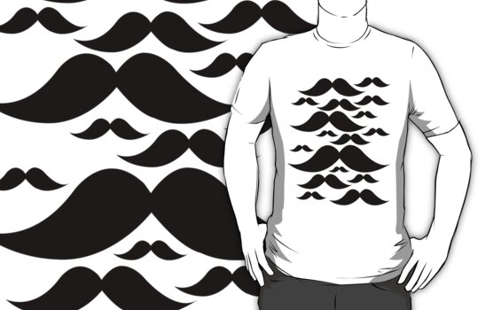 Moustache Flock by Limited Apparel