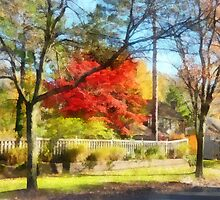 Colorful Autumn Street by Susan Savad