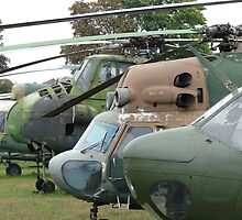 Military helicopters by Natas