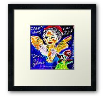 Cream Always  Rises To The Top Framed Print