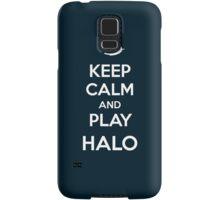 Keep calm and play Halo Samsung Galaxy Case/Skin