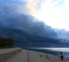 Squall Line in Chicago's Montrose Harbor by Adam Kuehl