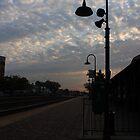 Sunrise from the Berwyn, IL train station by Adam Kuehl
