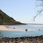 Low Tide At Tallebudgera Creek Entrance by aussiebushstick