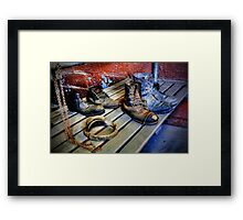 Coal Miners Working Boots Framed Print