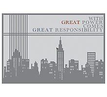 Spider-man New York Skyline Quote Photographic Print