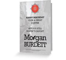 Morgan Burdett Copper Birthday Card Greeting Card