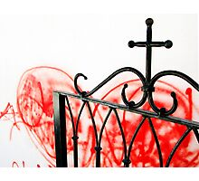 Red and Religious Photographic Print