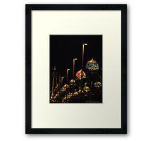 Blackpool at night Framed Print