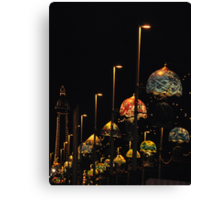 Blackpool at night Canvas Print