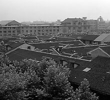 BW China Shanghai City 1970s by blackwhitephoto