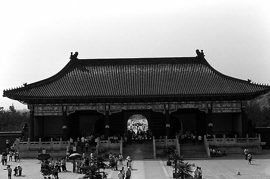 BW China Pekin temple of Heaven gate 1970s by blackwhitephoto