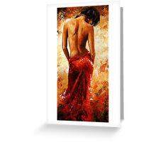 Lady in red /27 - soft nude Greeting Card