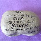 """Ask Seek Knock""  by Melissa Goza"