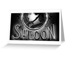 Saloon Lady Greeting Card