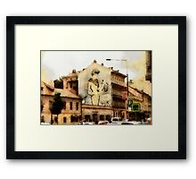 The Lady on the Gable Framed Print