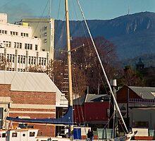Mt Wellington & Constitution Dock, Hobart by Brett Rogers
