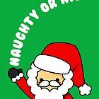 Adorable Kawaii Cartoon Santa Claus Greeting Card by hellohappy