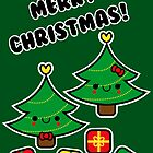Adorable Kawaii Christmas Tree Couple by hellohappy