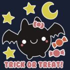 Halloween Adorable Kawaii Bat by hellohappy