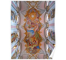 Frescoes on the Ceiling of St.Peters Church. (view larger) Poster