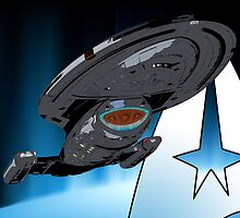 Star Trek: Voyager USS Voyager Starship by metacortex
