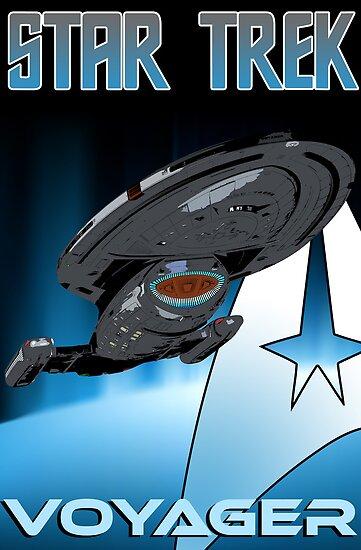 Star Trek: Voyager USS Voyager Starship by metacortex