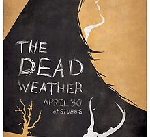 Dead Weather  gig poster by Cameron Miller