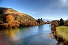 The Clutha River from Millers Flat Bridge by Christine Smith