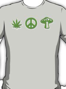 Marijuana Peace Mushrooms T-Shirt