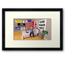 Start a Revolution From My Bed Framed Print