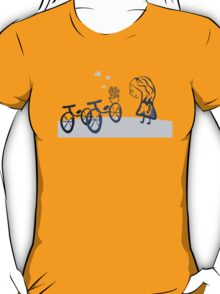 present in the bicycle T-Shirt