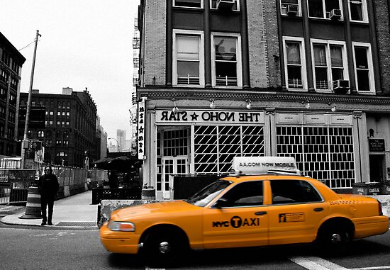NoHo Star Yellow Cab by luciaferrer
