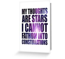 Constellations - TFioS Greeting Card