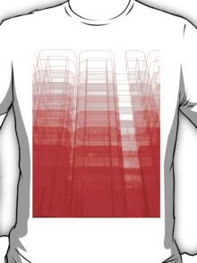 Red Abstract 3D Construct T-Shirt